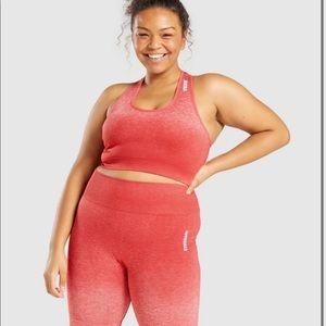 Gymshark adapt ombré red sports bra